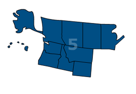 Association of Legal Administrators Region 5 includes Alaska, Alberta, British Columbia, Hawaii, Idaho, Manitoba, Montana, Oregon, Washington and Wyoming.