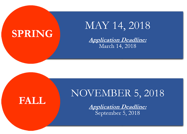 2018 Certified Legal Manager Exam Dates-- May 14 2018-- application deadline March 14, 2018; November 5 2018-- application deadline September 5, 2018.