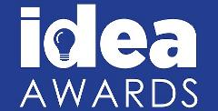 IDEA Awards Logo - white on blue