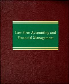 Law firm accounting and financial management bk cover