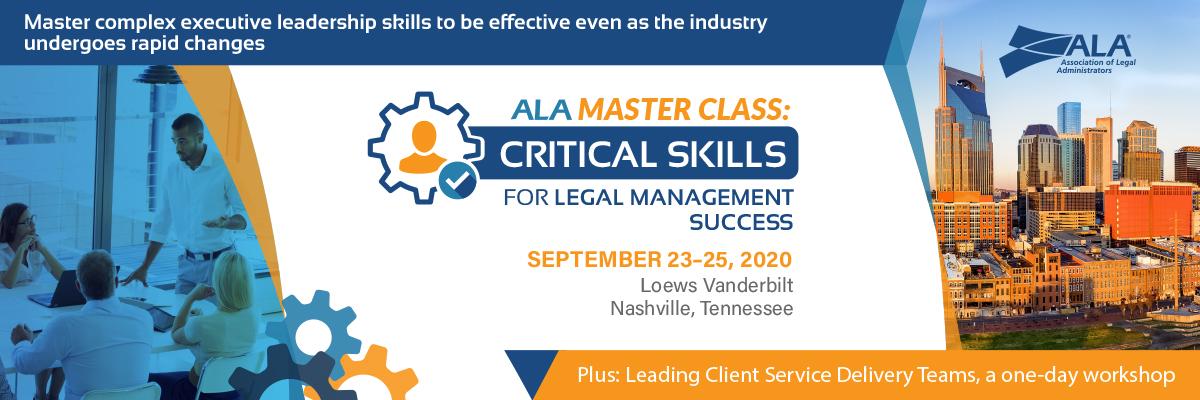 ALA Master Class Critical Skills
