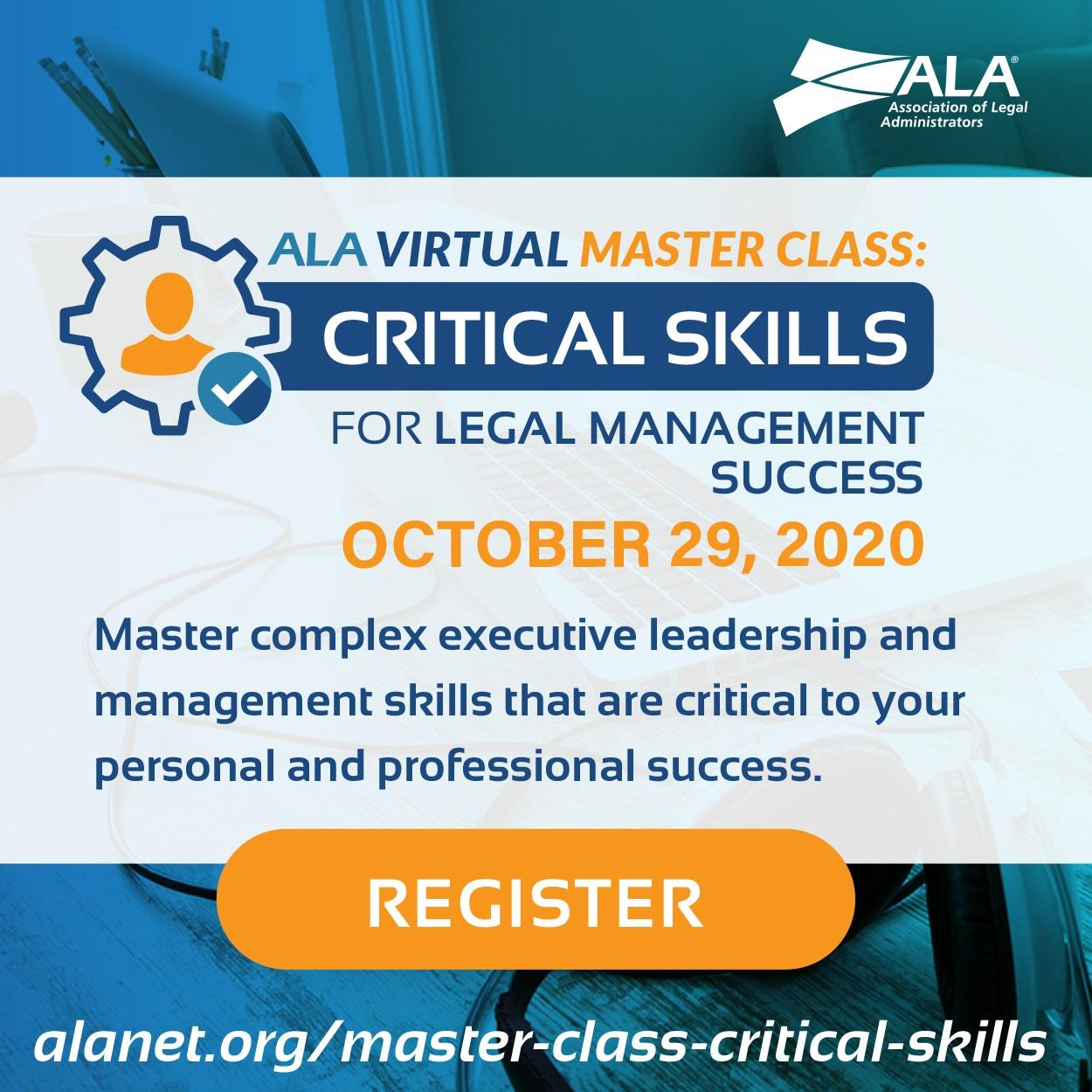 ALA Virtual Master Class Critical Skills